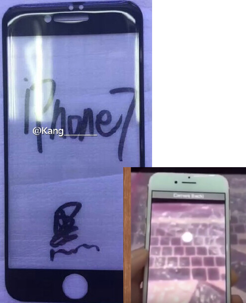 Alleged front panel of the Apple iPhone 7 compared to a purported iPhone 7 prototype - Apple iPhone 7 front panel smiles for the camera?