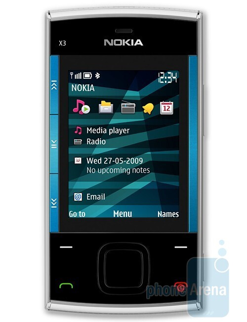 Nokia X3 is a Series 40 based slider - Nokia X6 and X3 – the first X Series handsets