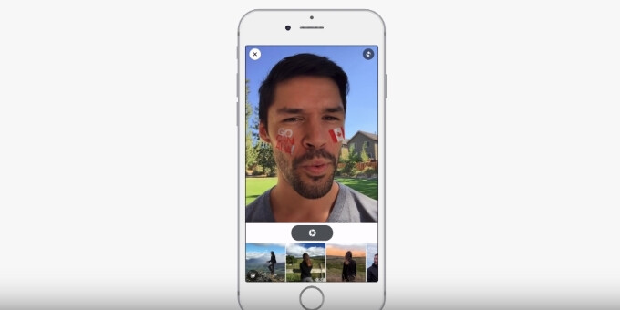 Photo by Josh Constine - Facebook now testing selfie filters and AR overlays to up its Snapchat competing game
