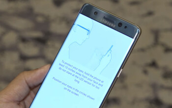 Do not hold the Galaxy Note 7 too close when scanning your iris, Samsung warns