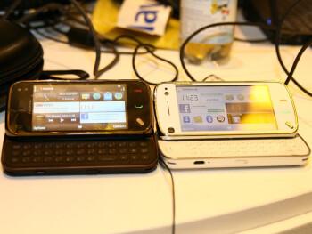 Nokia N97 mini next to Nokia N97