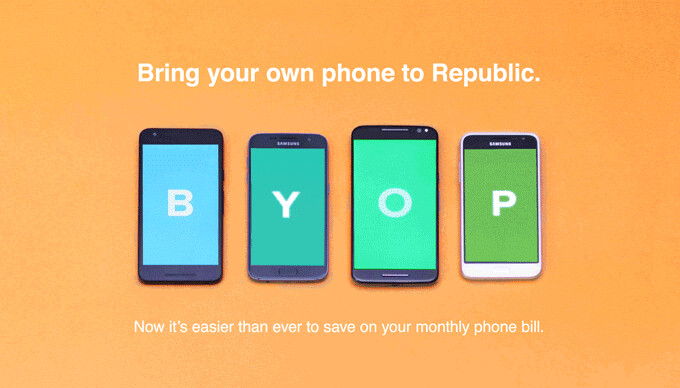 Republic Wireless now allows subscribers to bring their own phone to the network