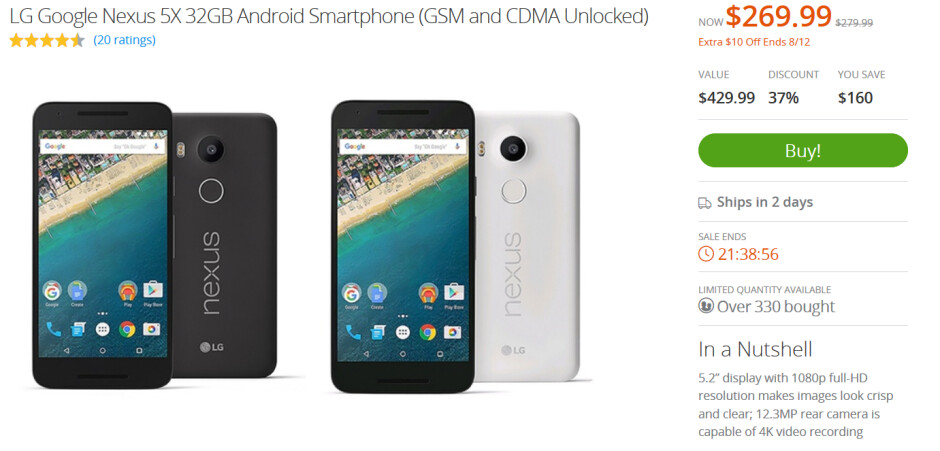 Pay as low as $229.99 for the 32GB Nexus 5X from Groupon - Pay as low as $229.99 for the 32GB Nexus 5X from Groupon