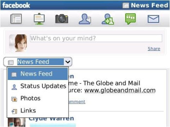 New Facebook client for BlackBerry