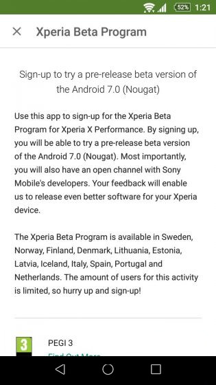 Sony Xperia X Performance: Android 7.0 Nougat pre-release ...
