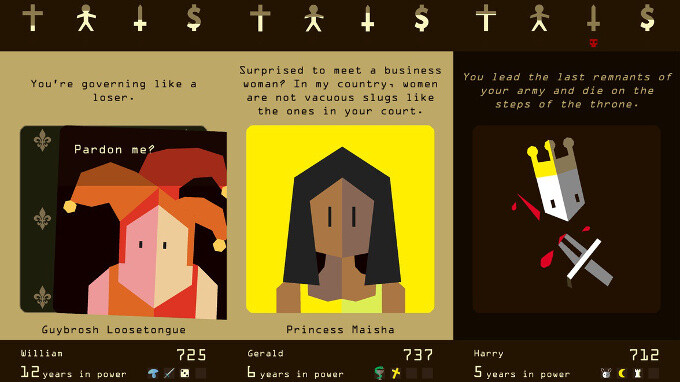 Reigns - Best new Android and iPhone games (August 9th - August 16th)