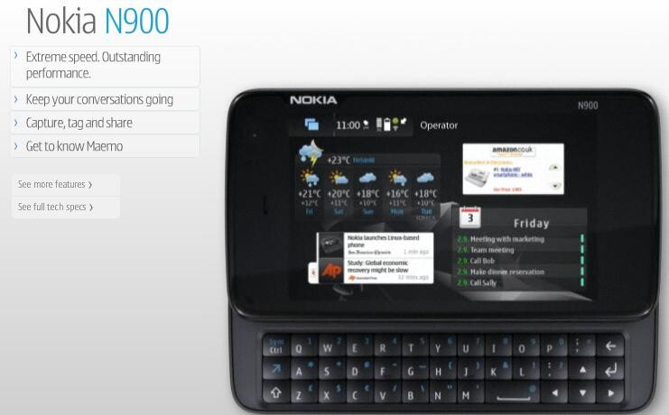 Nokia N900 now available for U.S. pre-order for $649