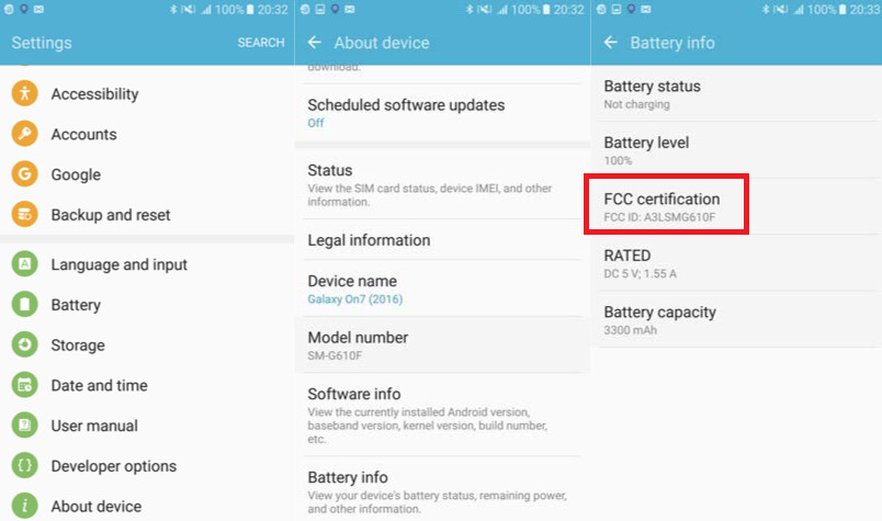 The FCC certifies the Samsung Galaxy On7 (2016) - Samsung Galaxy On7 (2016) is certified by the FCC