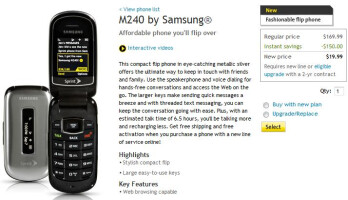 Sprint launches Samsung M240, a budget flip with large keys