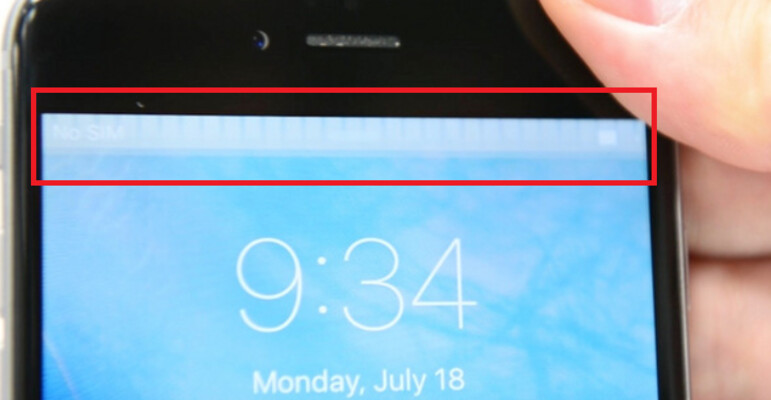 Still picture shows the gray bar at the top of the screen