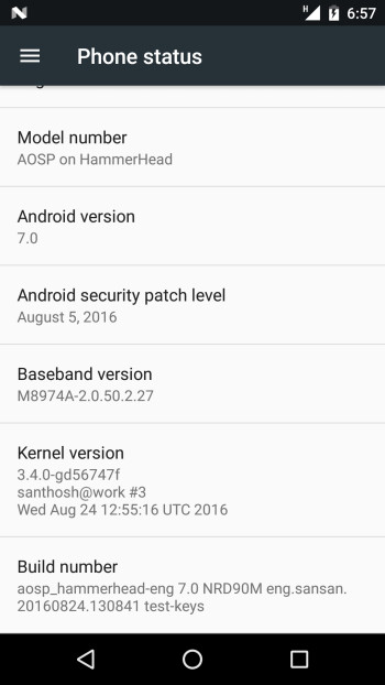 Android 7.0 Nougat (sort of) up and running on the Google Nexus 5