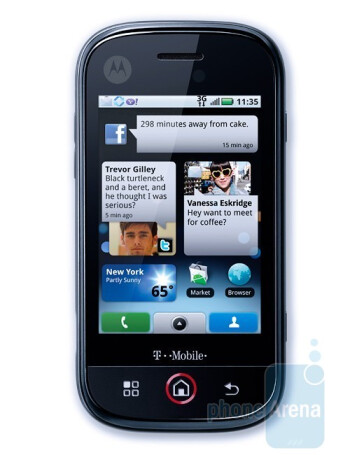 Motorola CLIQ - Moto's first Android handset