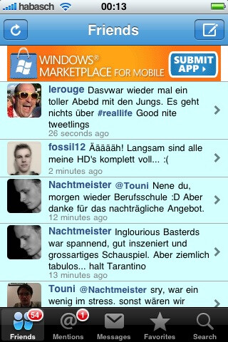 Windows Marketplace ads running on iPhone apps?