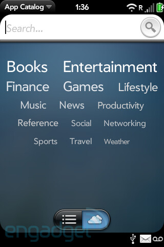 Palm's revised App Catalog shows its face?