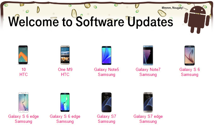 T-Mobile shares list of Samsung and HTC phones that will get Android 7.0 Nougat updates
