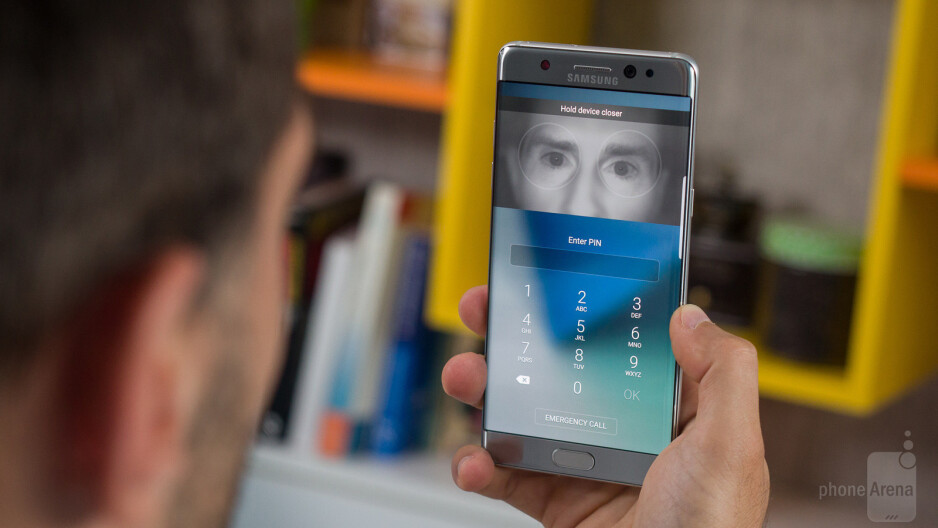 Samsung adds iris authentication via Galaxy Note 7 for banking services