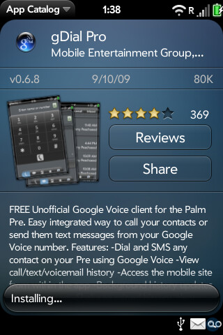 App Catalog - New App Catalog for Palm Pre Sept 24th; webOS 1.2 coming next week?