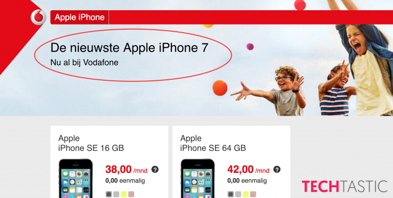 Vodafone placeholder confirms Apple iPhone 7 name - Apple iPhone 7 it is, according to Vodafone