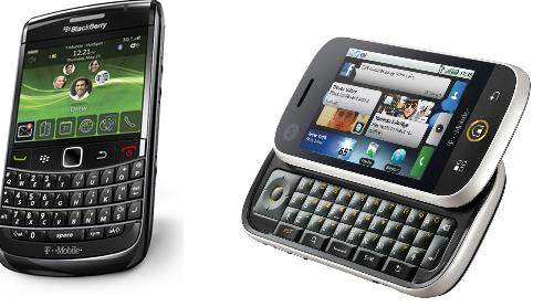BlackBerry 9700 (L) and Motorola CLIQ (R) - November 11th T-Mobile launch date for Motorola CLIQ and BlackBerry 9700?