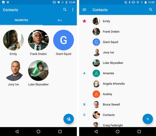 Google Contacts update brings revamped UI and features from the web