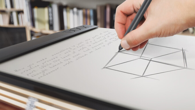 Using the Real Pen to scribble on paper on top of the Create Pad, results in everything you write to be digitized - The Lenovo Yoga Book is a 2-in-1 tablet that aims to cater to both power users and creative types