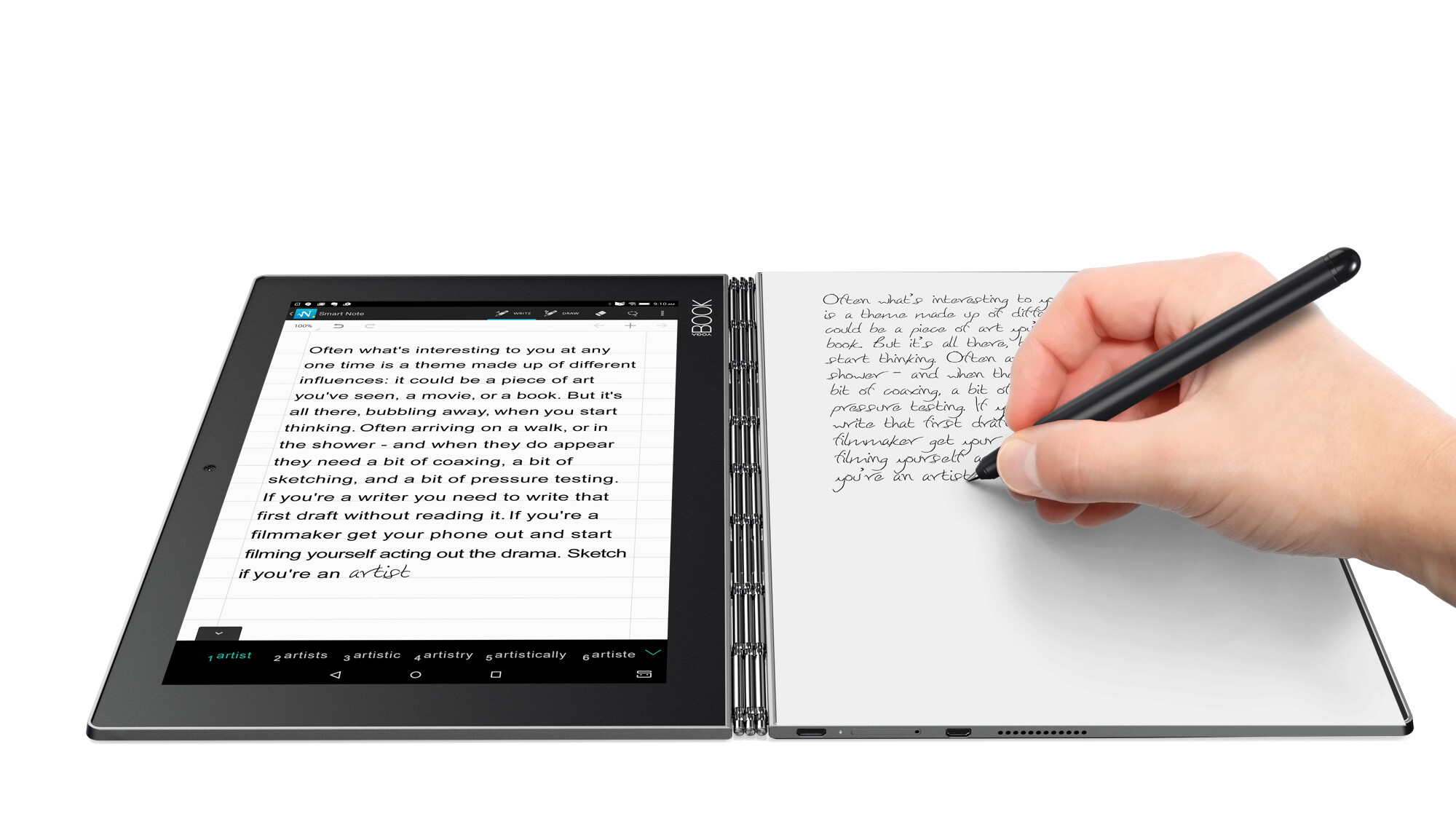 The Lenovo Yoga Book is a 2-in-1 tablet that aims to cater ...