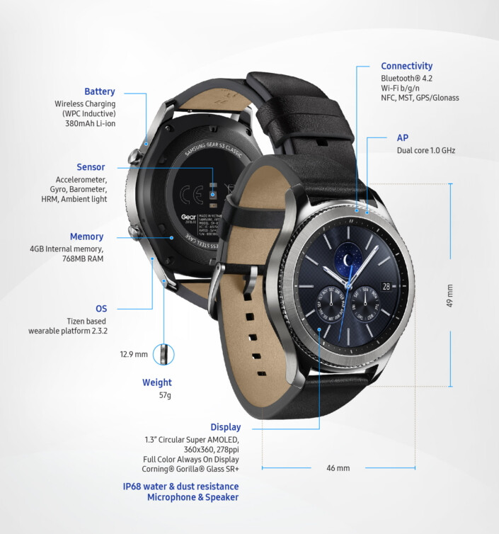 The Gear Classic is the more elegant of the two - Samsung unleashes the Gear S3 Classic & Frontier on the smartwatch scene