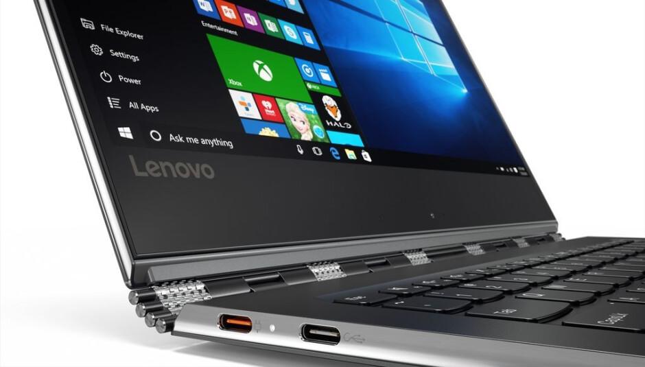 Lenovo's Yoga 910 features an edge-to-edge 4K display and fingerprint sensor