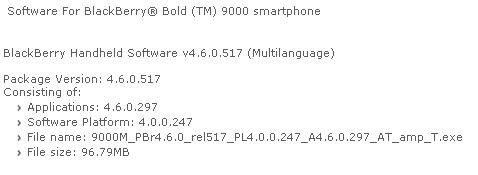 If at first you don't succeed: AT&T offers Bold OS 4.6.0.297 once again