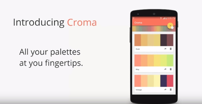 Croma lets you pick out the individual colors in any image