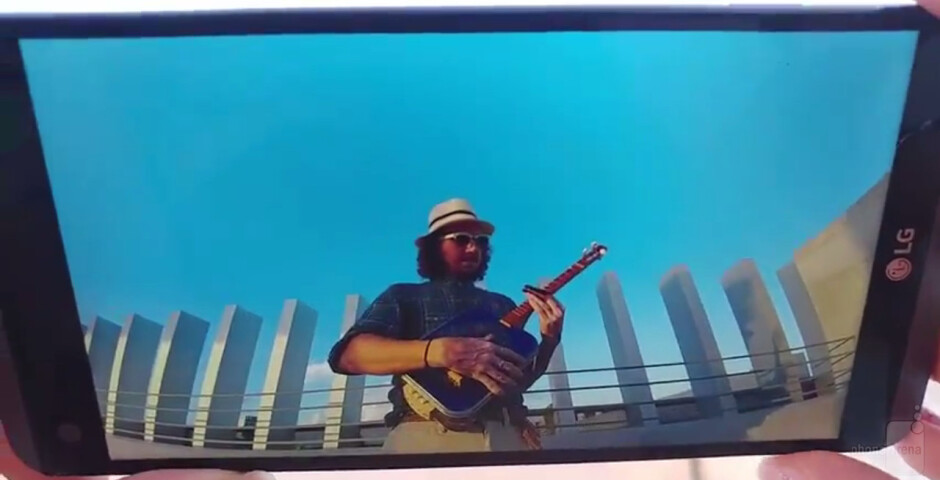 The LG V20 briefly stars in short video clip