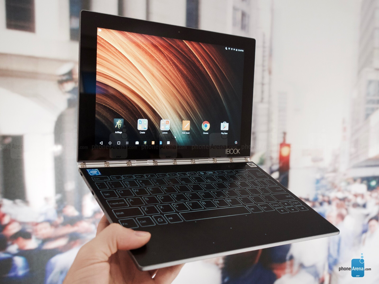 Lenovo Yoga Book Preview Hey Look It S A Tablet With A Notepad Phonearena Reviews Phonearena