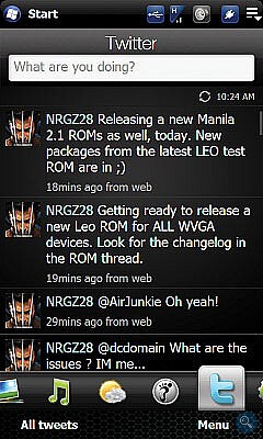 Cooked ROM adds Twitter tab on HTC's TouchFLO 3D 2.5 interface