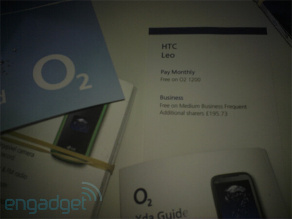 Promo material confirms HTC Leo for O2, handset free on some plans