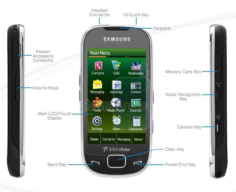 Samsung Caliber R850 - The Samsung Caliber and Trill roll out through US Cellular soon