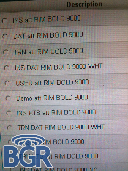 AT&T to offer BlackBerry Bold in White? Bold/Onyx 9700 shows up again