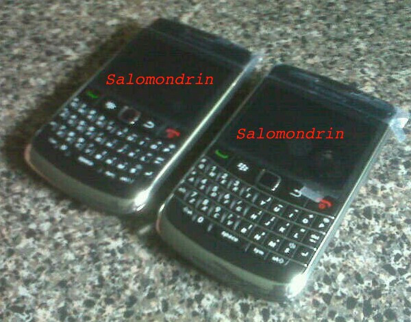 """""""Atlas"""" (L), """"Bold/Onyx""""(R) - BlackBerry Atlas sits in front of the camera"""