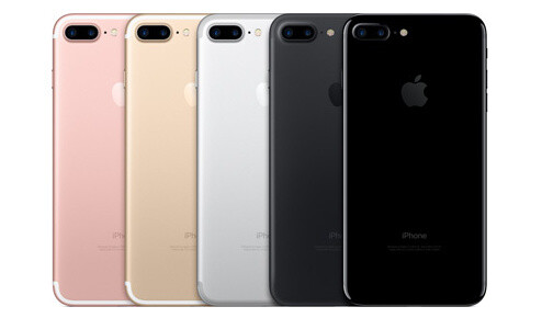 The new iPhone 7 Plus in all its color variants - Apple announces iPhone 7 and iPhone 7 Plus: gorgeous new design, revolutionary camera, water-resistant