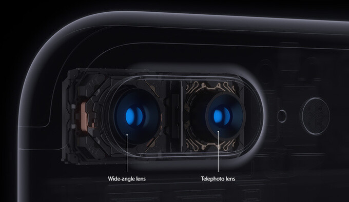 Dual cameras, available only on the iPhone 7 Plus - Apple announces iPhone 7 and iPhone 7 Plus: gorgeous new design, revolutionary camera, water-resistant