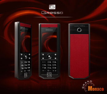 Gresso adorns their Grand Monaco handsets with leather