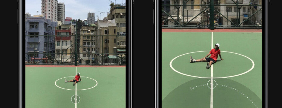 Regular view from iPhone camera (on the left) and telephoto lens view (on the right) - Apple iPhone 7 and 7 Plus camera explained: a revolution in smartphone photography