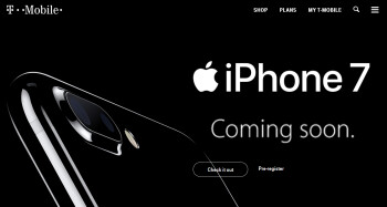 Pre-register for the iPhone 7 and iPhone 7 Plus on T-Mobile and you'll be alerted when pre-orders are starting