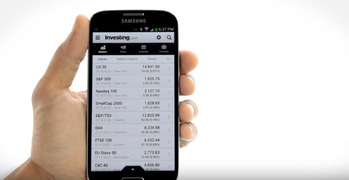 The Investing dot com app now boasts a customizable, real-time financial alerts system