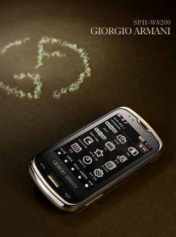 Samsung Giorgio Armani SPH-W8200 poses for the camera