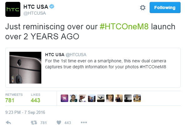 HTC: We had a smartphone with dual rear camera 2 years before the iPhone 7 Plus