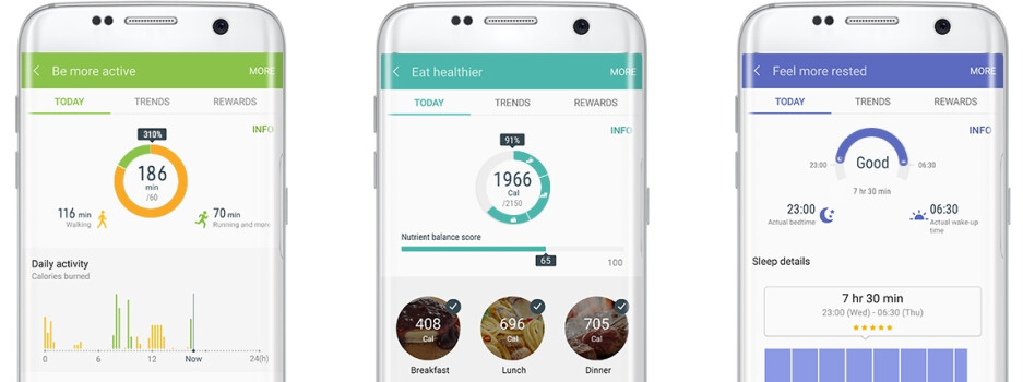 Samsung S Health app updated with more content and design improvements