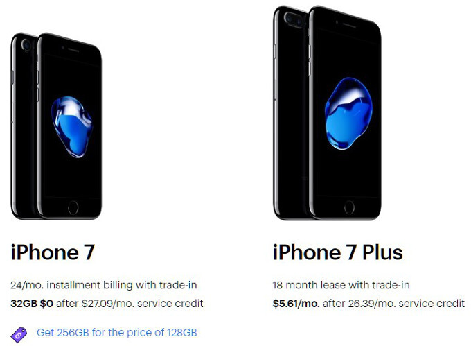 Aaand... the best deal on an iPhone 7 buy goes to Sprint