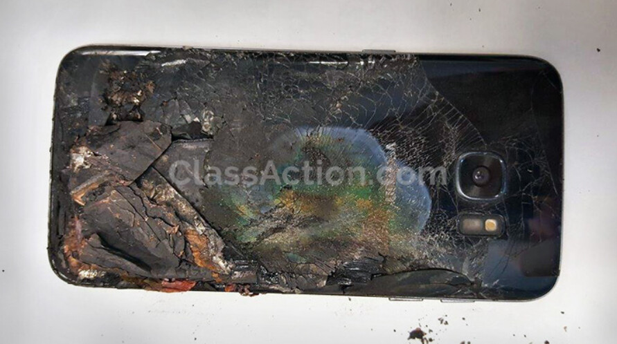 Samsung is being sued over the explosion of this Samsung Galaxy S7 edge which caused second and third degree burns - Samsung sued over an exploding phone and it's not the Galaxy Note 7