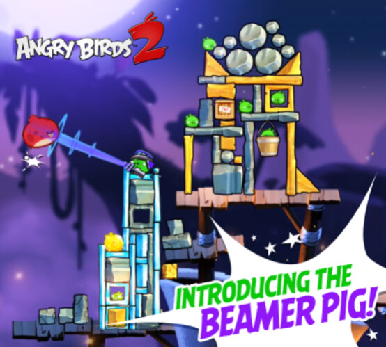 Rovio promotes the new Beamer Pig on the updated Angry Birds 2 - Update for Angry Birds 2 adds two new chapters, each with 40 levels