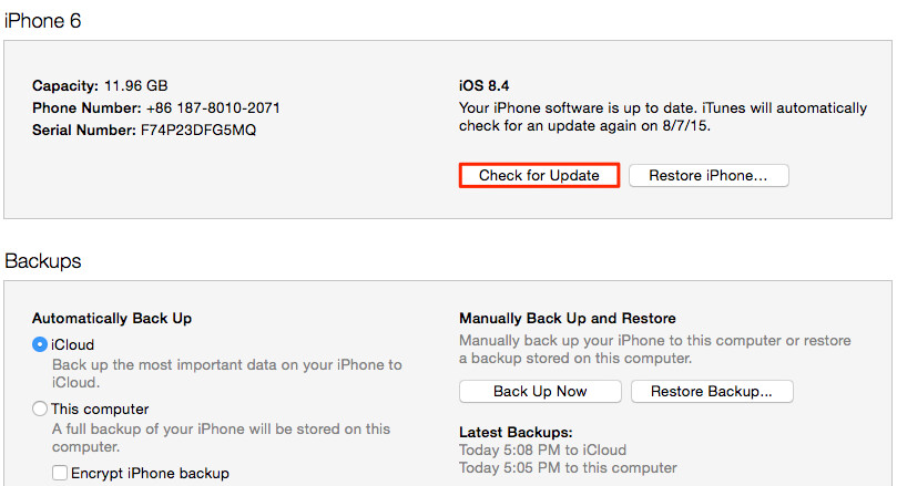 Click the 'Check for update' button in order to see if iOS 10 is available for your device - How to download and install iOS 10 on your eligible iPhone or iPad when the time comes
